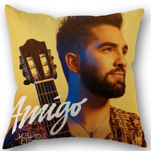 Pillowcase Cotton Kendji Girac Decoration Square Zippered Eco-Friendly for Office Family
