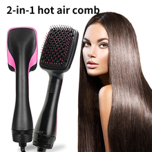 Brush Hair-Dryer One-Step-Hair Comb Electric Ion Travel Professional