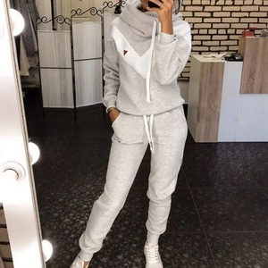 Women's Tracksuit 2 Piece Set Pullover Hoodie+Pants Sports Suit Female Autumn Winter Sweatshirt Sets Sportswear Suits For Woman