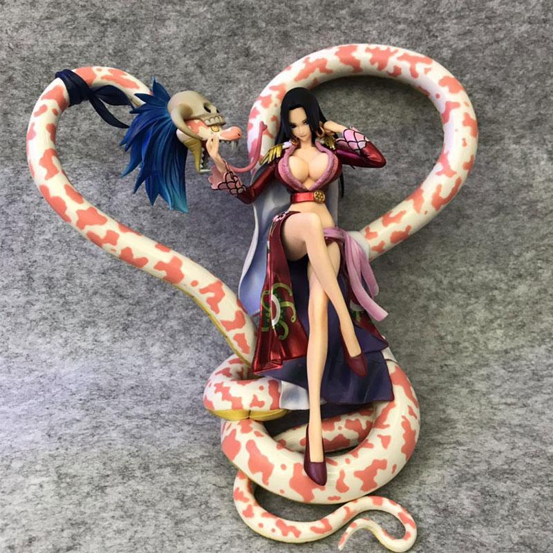 Anime One Piece POP Female Emperor Nine Snakes Boya Hancock PVC Action Figure Collection Model Toys