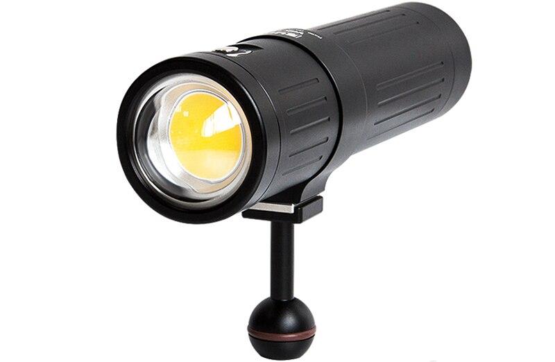 Supe scubalamp v6k pro 12000lum luz subaquática