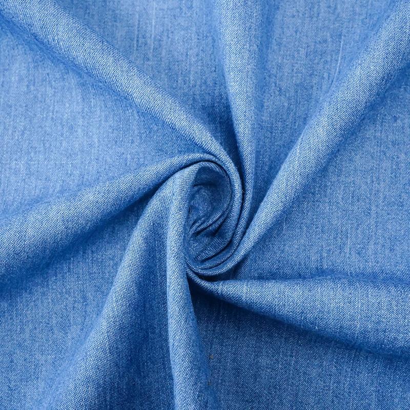 4.6oz denim fabric cotton washed plain woven for T-shirts