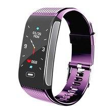 חדש Smartwatch IP67 עמיד למים לביש מכשיר לב קצב שינה צג חכם שעון כושר Tracker פדומטר עבור אנדרואיד IOS