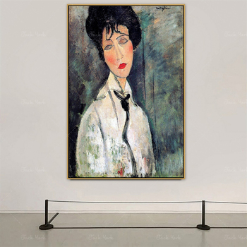 Amedeo Modigliani Old Famous Master Artist New Lit Loves Women Canvas Painting Poster Print for Room Wall Decor Wall Art image