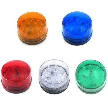 1pcs DC 12V Strobe Warning Lamp Industrial Signal Warning Light Signal Warning Indicator Security Alarm Signal Small Round Light фото