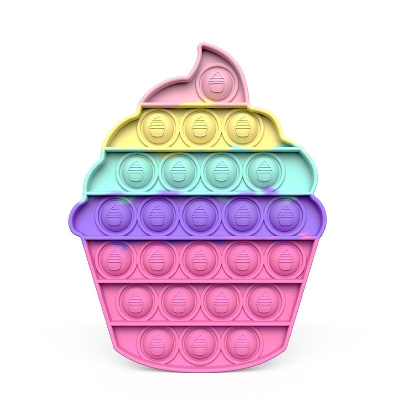 Игрушка антистресс с эффектом пузырьков, Игрушка антистресс для детей, милый красочный дизайн, радуга, игрушка для снятия стресса, подарки д...