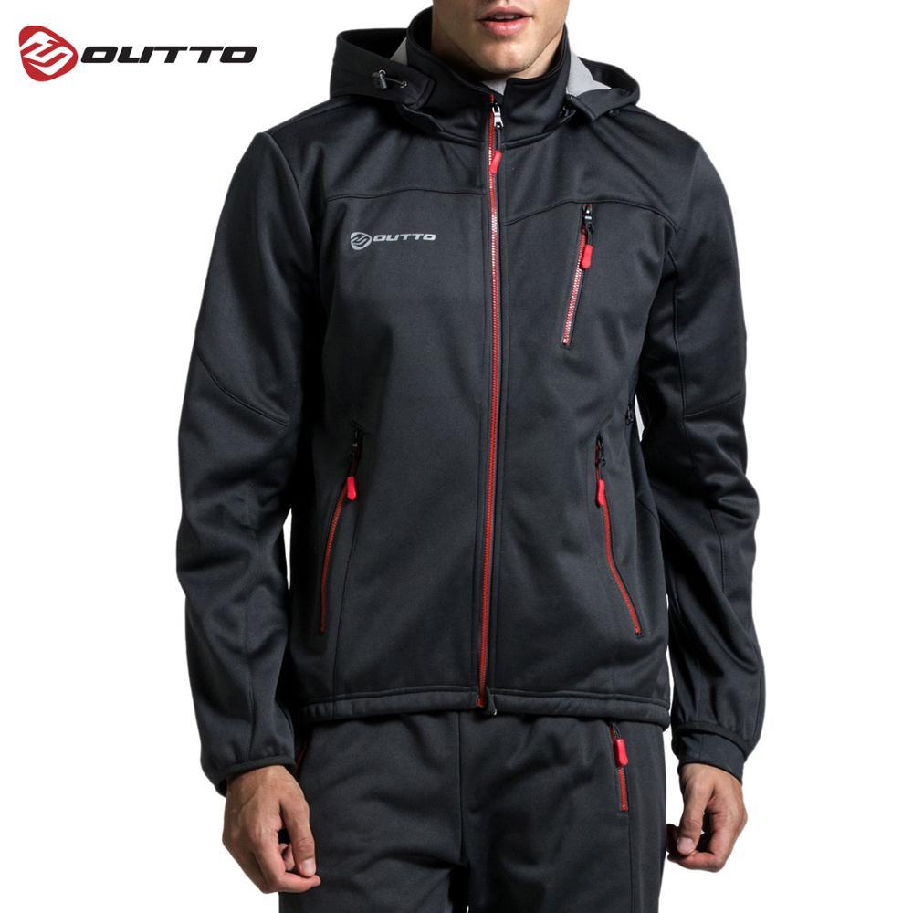 Мужская Флисовая Толстовка Outto, зимняя теплая велосипедная куртка|Майки для велоспорта|   | АлиЭкспресс