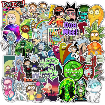 50pcs Funny Cartoon Anime Cute Stickers Pack Kawaii Waterproof Skateboard Guitar Laptop Bicycle Car Vsco Sticker Kid stikers Toy anime avatar monster pet thumbnail funny spoof taste fridge magnet colourful squishy waterproof stickers kawaii toy recyclable