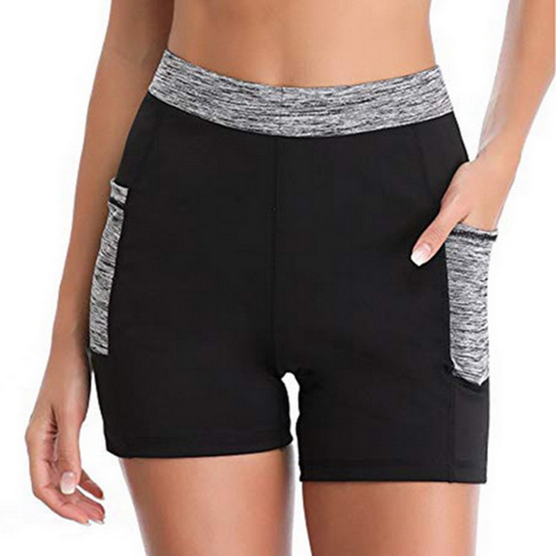 Women Yoga Shorts With Pocket 2019 Weight Loss Sweat Sauna Capris Leggings Tights Female Gym Fitness Sports Shorts