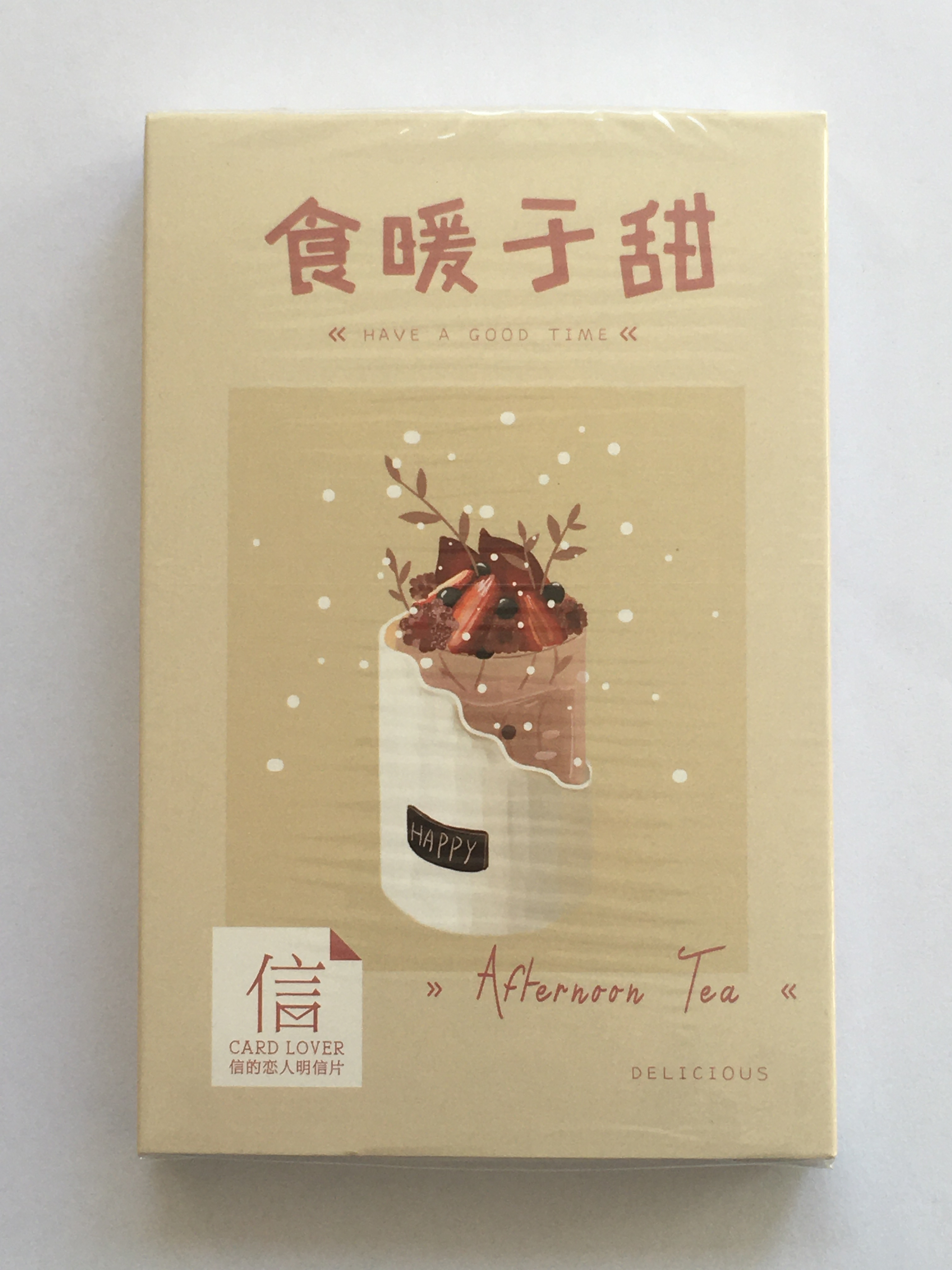 A160- Sweet Food Paper Postcard(1pack=30pieces)