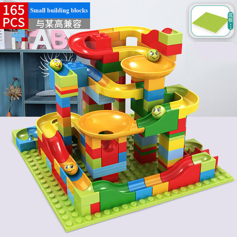 52 330PCS New Marble Race Run Maze Ball Jungle Adventure Track Building Block Small Size Bricks Compatible LG Block kid gifts in Blocks from Toys Hobbies