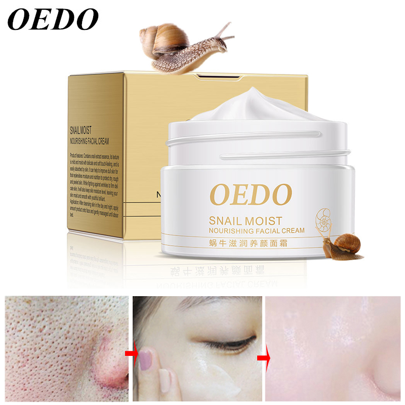 OEDO Snail Cream Face Moisturizer Anti Aging Nourishing Skin Whitening Wrinkle Remover Tender Facial Cream Repair Skin Care 40g