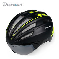 Deemount Bicycle Outdoor Riding Helmet Integrally Molded with Insect Proof Adult Mountain Bike Equipment Wholesale|Bicycle Helmet| |  -