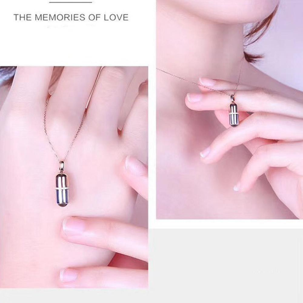 Wedding Necklace Memory 100 Languages I Love You Capsule Projection Pendant Necklace