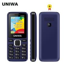 UNIWA E1801 Dual SIM Dual Standby 1.77% 27% 27 800mAh Rear Camera MP3 MP4 FM with Flashlight Loud Speaker 8 Days Standby Senior Mobile
