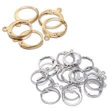 20 шт./лот золотые кольца из нержавеющей стали Huggie Французский рычаг задней проволоки для ушей базовые кольца серьги для рукоделия ювелирные...