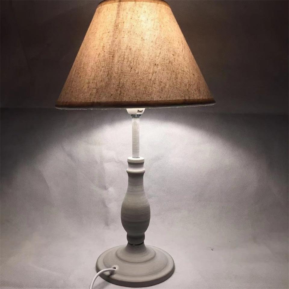Image 2 - E14 Table Lamp 40w Small  Beige Beside lighting for Bedroom reading LED Bulb Warm White Eye Care Night Light DecorationLED Table Lamps   -