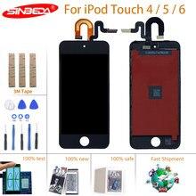 Sinbeda para ipod touch 4 5 6 7 display lcd tela de toque digitador assembléia para ipod touch 4 5 6 7 5th 6th 4th exibição