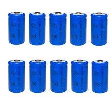 10/12pcs 1300mAh Lithium Li-ion 16340 Battery CR123A Rechargeable Batteries 3.7V
