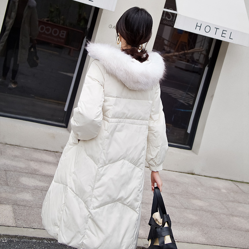 2020 Winter Jackets Fashion Women's Down Jacket With Real Raccoon Fur Hooded Thick Warm Duck Down Coat Female Hiver W1281
