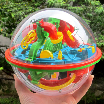 100 Step 3D Magic Maze Intellect Ball Labyrinth Sphere Globe Toys For Kids Educational Brain Tester Balance Training Toy Gifts 1
