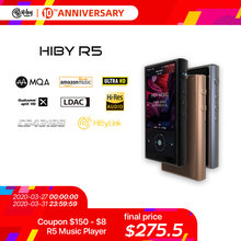 HiBy R5 Android 8.1 HIFI Lossless Music MP3 Player Amazon Music Ultra HD/WiFi/Air Play/LDAC/DSD/aptX/Dual CS43198/Hi-Res/MQA(China)