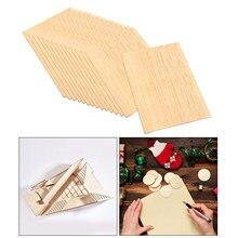15個木製正方形mdfプラーク未完成ブランクdiy焼画木工
