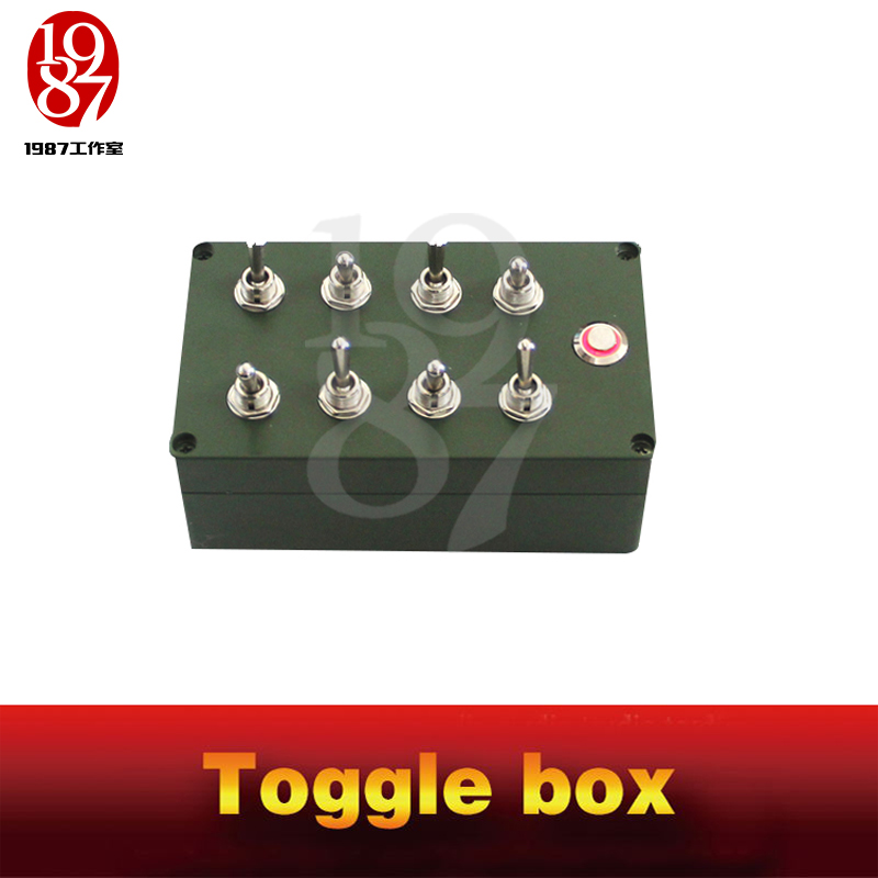 Room escape props toggle box real life chamber game all toggles in right directions to unlock escape takagism game jxkj1987-in Alarm System Kits from Security & Protection