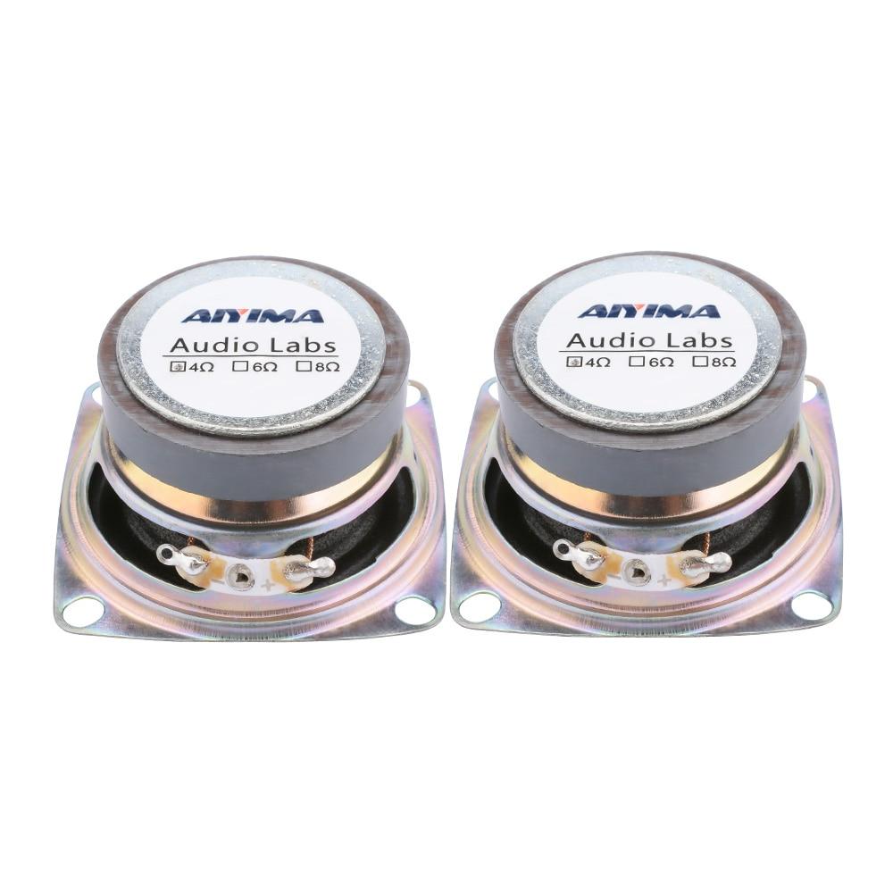 """AIYIMA 2 pièces 2 """"pouces 4Ohm 3W gamme complète haut-parleur Mini Portable haut-parleur stéréo Woofer haut-parleur boîte accessoires de bricolage"""