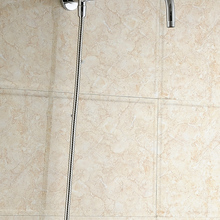 Настенный держатель для душа из нержавеющей стали, хромированный материал, аксессуары для ванной комнаты, насадка для душа, фиксированный д...