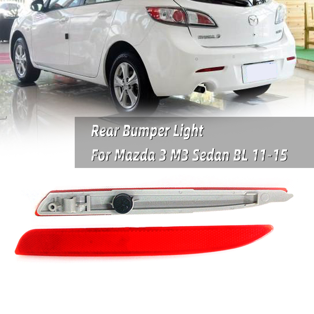 Side B For Mazda 3 BL 2009~2013 Check Pictures Rear Bumper Bar Reflector