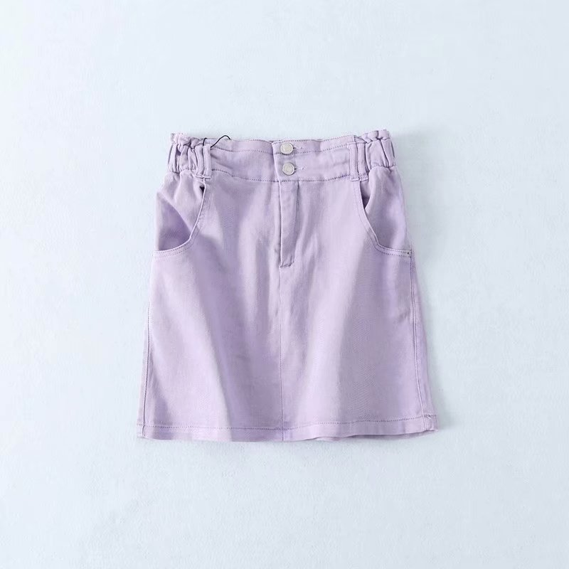 Toppies Violet Denim Skirts Womens Mini Skirts High Waist Two Buttons Summer Streetwear Faldas 2020