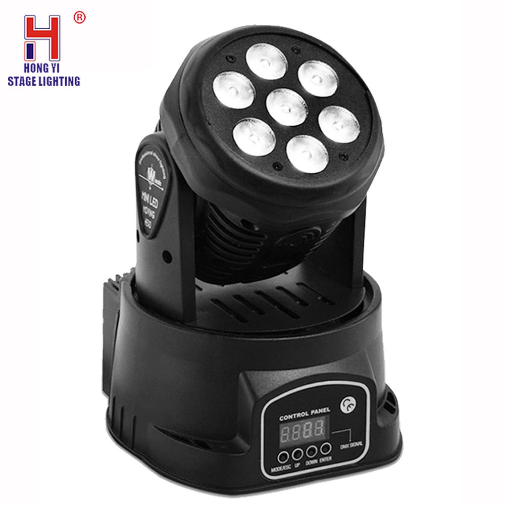 Led Mini Pro 7X12W RGBW 4in1 Wash Light Moving Head Stage Lighting DMX512 Party Lights For DJ Nightclub|Stage Lighting Effect| |  - title=