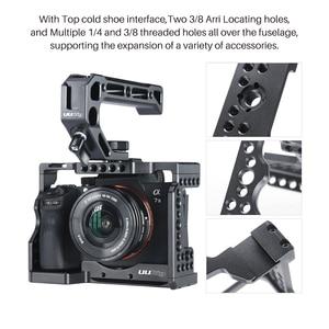 Image 3 - Revestimento metálico para câmera sony, gaiola de câmera fria para sony a7iii a7r3 a7m3 com alça superior