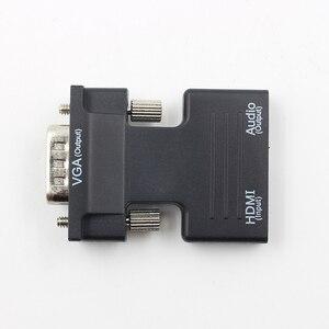 Image 4 - Hot HDMI Weiblichen Zu VGA Stecker Konverter Mit Audio Adapter Unterstützung 1080P Signal Ausgang Konverter + Audio Kabel L3FE