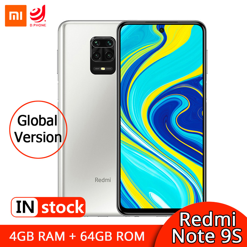 Xiaomi Redmi Nota 9 Nota 9 4GB 64GB versión Global Smartphone Snapdragon 720G Octa Core teléfono móvil 5020mAh 48MP Quad Camera Versión Global Redmi Note 8 64GB ROM 4GB RAM, ROM Oficial (Nuevo y Sellado) note8 64gb Teléfono Móvil