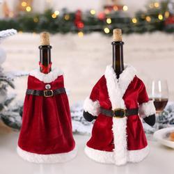 Merry Christmas Decor For Home 2019 Christmas Bottle Cover Wine Glass Charm Christmas Gift Decor Noel 2019 New Year Gift 2020 2