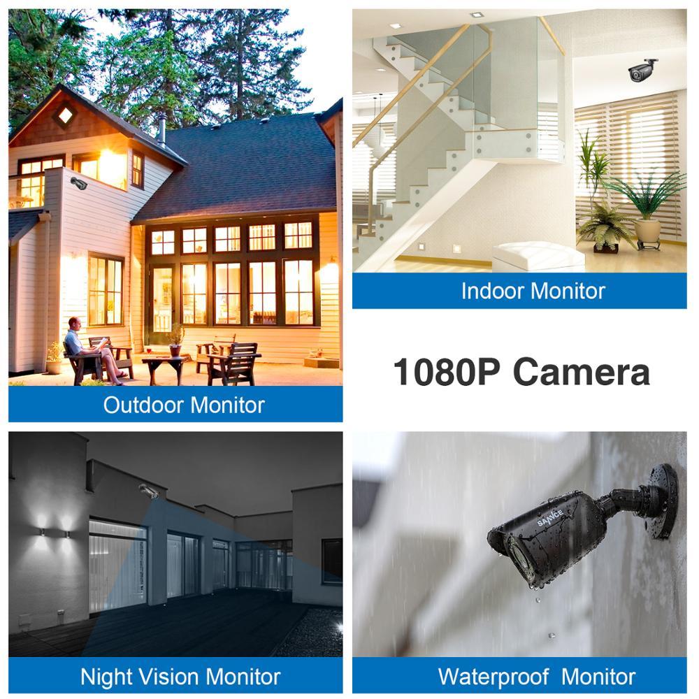 SANNCE 4PCS 1080P CCTV Security Cameras 2.0MP Outdoor Home Video Surveillance Camera CCTV System