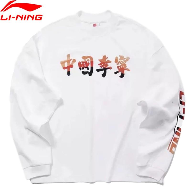 Li-Ning FW Men Sports Life CHINA Li-Ning li ning T-Shirt Loose Fit Long Sleeve Sport Tee Tops AHSP587 MTL1053