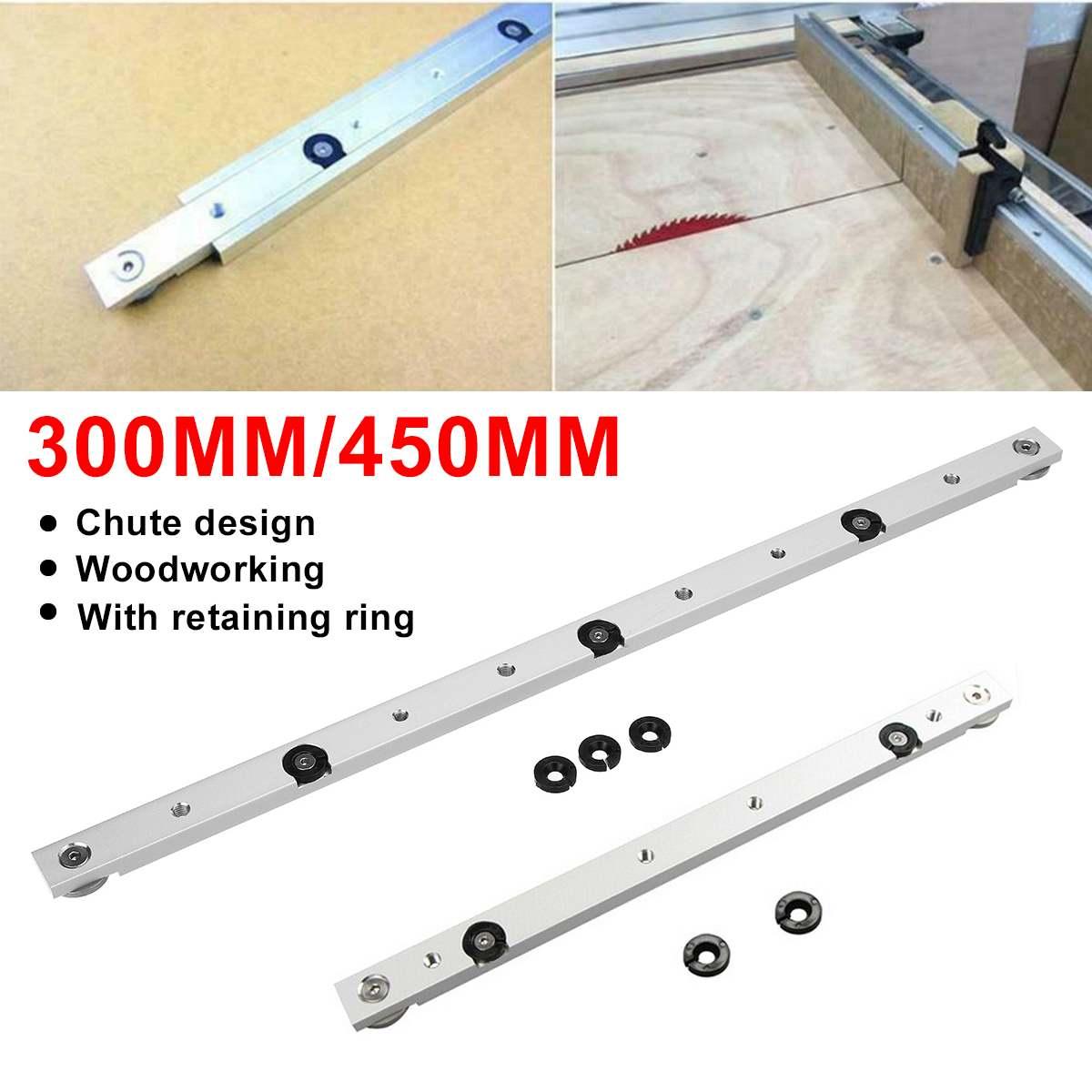 30/45cm Tool Adjustment Universal Slider Carving Miter Bar Table Saw Gauge Rod Aluminum Alloy Woodworking Rail Table Gauge Tool