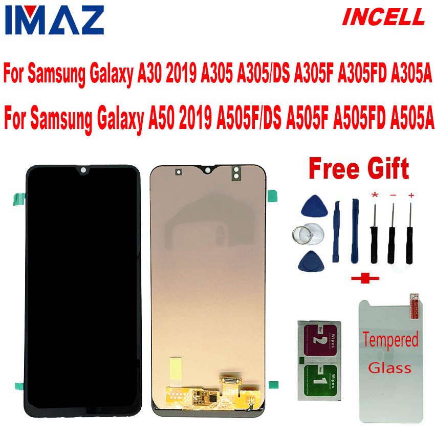 IMAZ INCELL <font><b>LCD</b></font> For <font><b>Samsung</b></font> galaxy A30 A305/DS A305F A305FD A305A <font><b>LCD</b></font> Touch Screen Digitizer Assembly For <font><b>Samsung</b></font> <font><b>A50</b></font> A505F <font><b>lcd</b></font> image