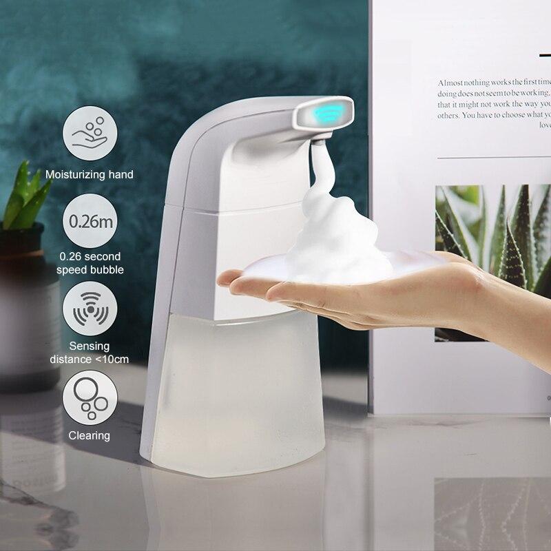 Automatic Liquid Soap And 10 Effervescent Tablets Dispenser Smart Sensor Automatic Sensor For Kitchen Bathroom Dropshipping