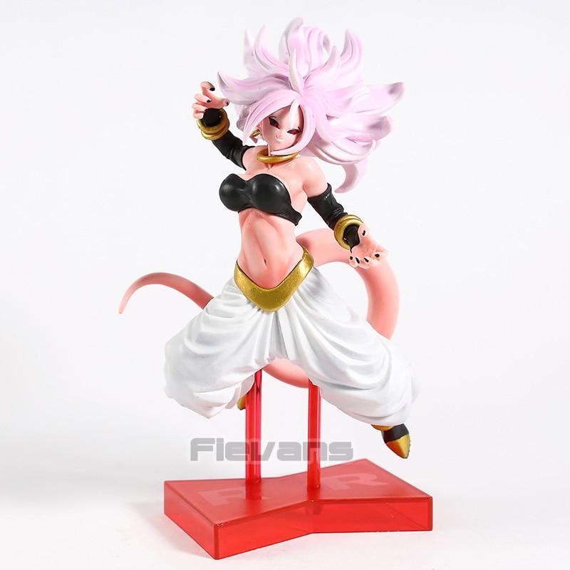 Dragonball Super 21CM Android 21 Transformed Majin Buu Girl PVC Statue New
