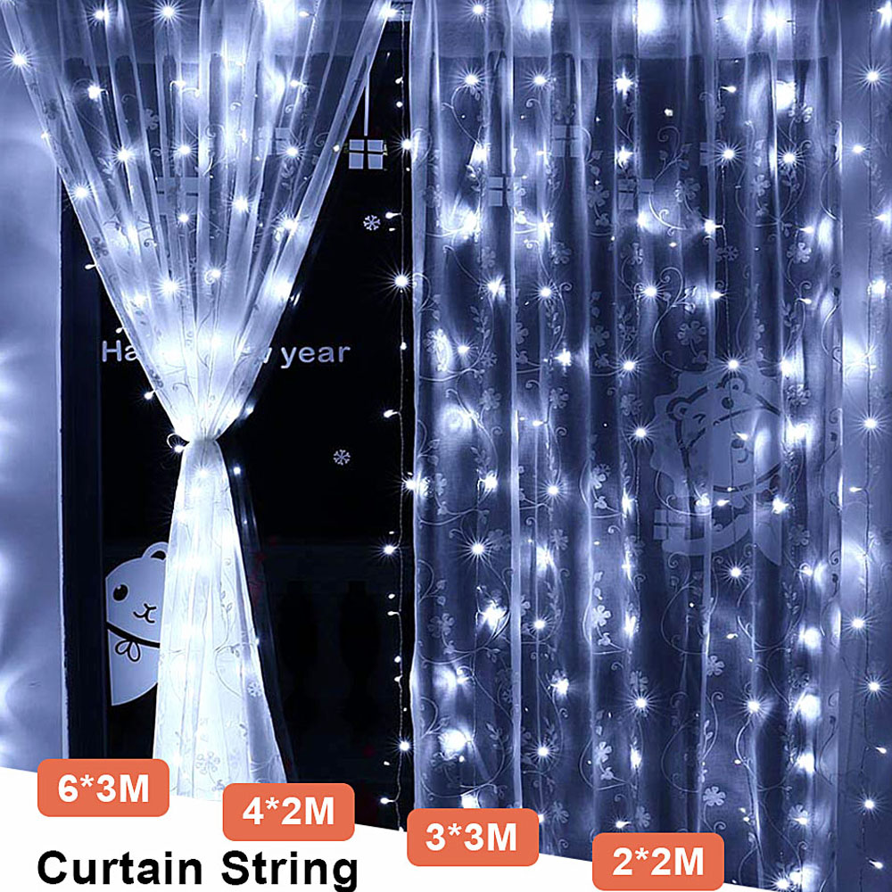 Curtain LED Light String 220V Wedding Party Outdoor String Lights Chain Christmas Decoration Street Fairy Light Garland Slingers