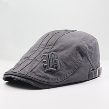 Кепка для улицы, шляпа от солнца, тонкий берет, хлопковая шапка для художника, шапка в полоску с надписью