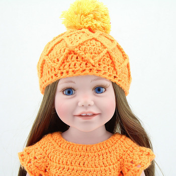 "NPK DOLL 18"" 45CM Baby American Fashion Dolls Girls full vinyl silicone bebe reborn dolls Cute Kids Toys gift"