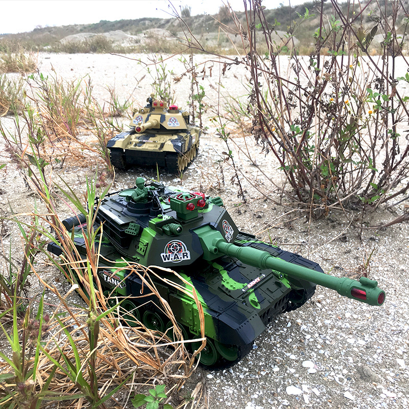 Remote Control Tank Model Ultra Large Parent And Child Battle-Emission Charge Electric Children Off-road Toy Boy Car