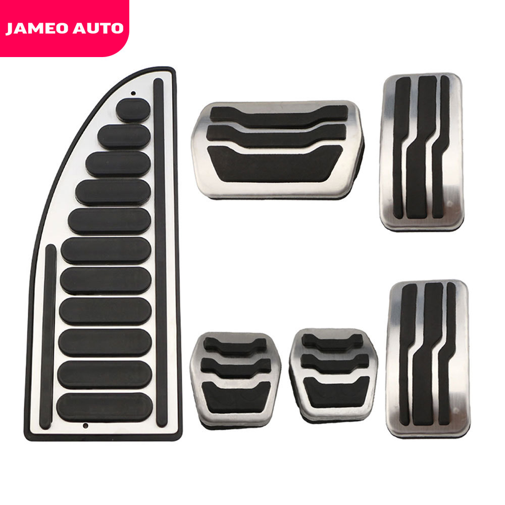 JameoAuto Car Accelerator Pedals Brake Pedal Set Covers Clutch Rest Foot Pedals Cover for <font><b>Mazda</b></font> <font><b>3</b></font> MAZDA3 <font><b>2009</b></font> - 2015 Parts image