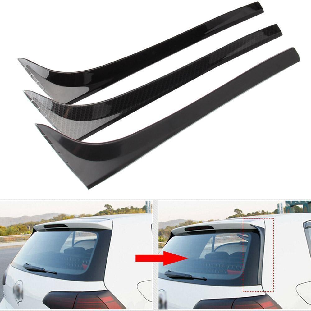 Gloss Black Rear Window Side Spoiler Wing For GOLF 7 MK7 GTD R 2014-2018 Car-styling Auto Rear Window Mirror Tail Accessories