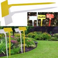 50 Uds.  ornamento de jardín  marcadores de plantas de plástico de 30CM de altura  etiquetas de giro tipo T  marcador plano inclinado  etiquetas para vivero  hierbas